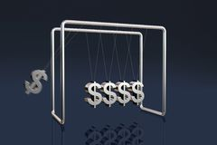 Dollars cradle Royalty Free Stock Photos