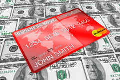 Dollars and Credit Card Stock Images