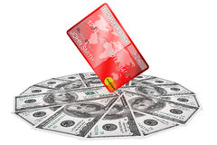Dollars and Credit Card Royalty Free Stock Photo
