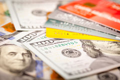 Dollars and Credit Card Stock Photography