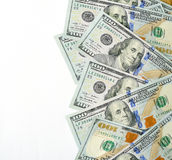 Dollars currency isolated, place for your text Royalty Free Stock Photo