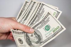 Dollars d'États-Unis de l'Américain 100 Images libres de droits