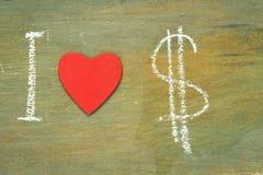 Dollars d'amour des textes i Image libre de droits