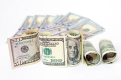 Dollars d'argent Photographie stock