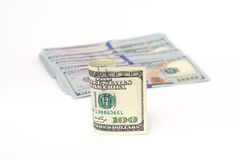 Dollars d'argent Photos stock