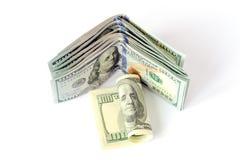 Dollars d'argent Photo libre de droits