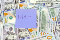 Dollars d'argent Image libre de droits