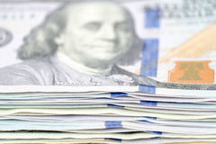 Dollars d'argent Photo stock