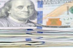 Dollars d'argent Images stock