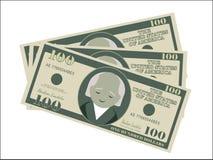 Dollars d'argent d'argent liquide de dollar américain d'argent vert illustration de vecteur