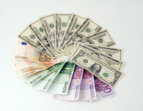 dollars d'euro Image stock