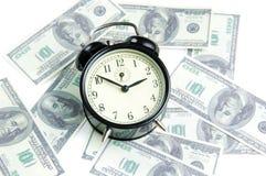 dollars d'horloge Images libres de droits
