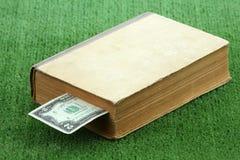 Dollars dans le livre Photographie stock libre de droits