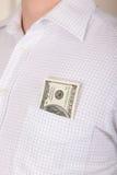Dollars dans une poche Photos libres de droits