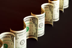 Dollars On Dark Royalty Free Stock Photography