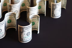 Dollars On Dark Royalty Free Stock Photos