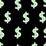 Dollars in darkness Stock Photography
