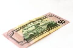 50 dollars de billet de banque Images libres de droits
