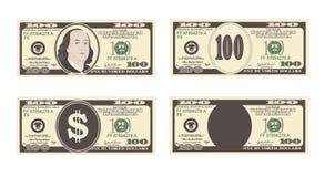 100 dollars de billet de banque Image libre de droits