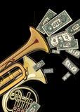 Dollars de billets de banque avec l'inscription illustration libre de droits