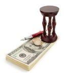 Dollars de billets de banque d'argent sur le blanc Photo stock