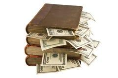 Dollars in de boeken Royalty-vrije Stock Afbeelding