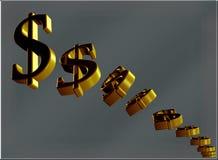 Dollars de diminution Image libre de droits