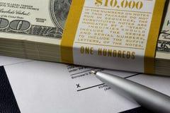 Dollars de dix-millièmes Image stock