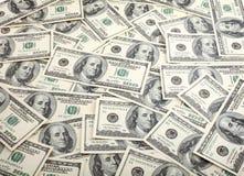 Dollars de fond Photographie stock libre de droits