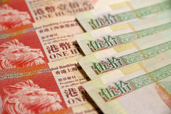 Dollars de Hong Kong Photographie stock libre de droits