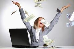Dollars in de lucht Royalty-vrije Stock Afbeelding