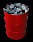 Dollars de pétrole Images libres de droits