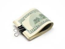 Dollars de paquet avec le clip Image stock