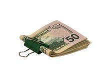Dollars de paquet. D'isolement. Image libre de droits