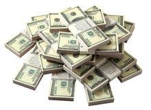 dollars de pile Photos libres de droits