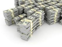 dollars de piles illustration de vecteur