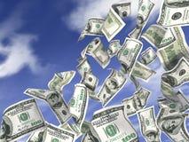 Dollars de pluie Image libre de droits