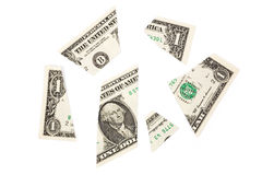 Dollars de puzzle Photos stock