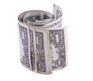 Dollars de roulis Images libres de droits