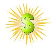 Dollars de signes d'explosion d'argent comptant Photos libres de droits