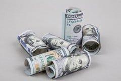 Dollars de trame Photographie stock libre de droits