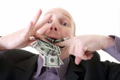 Dollars de utilisation d'avarice de gourmandise Images libres de droits
