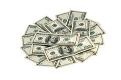 Dollars de ventilateur Photos libres de droits