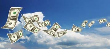 Dollars de vol images libres de droits