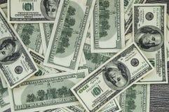 Dollars des Etats-Unis, Etats-Unis $ 100, vieilles et nouvelles 100 photos du dollar, grandes photos du dollar dans différents co Images libres de droits