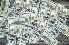 Dollars des Etats-Unis, Etats-Unis $ 100, vieilles et nouvelles 100 photos du dollar, grandes photos du dollar dans différents co Images stock