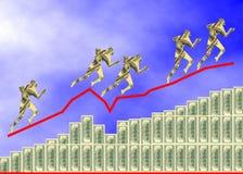 Dollars diagram Royalty Free Stock Images