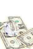 Dollars and diamond Royalty Free Stock Photos
