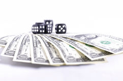Dollars and dices Stock Photo