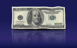 Dollars die vers geld witwassen Stock Foto
